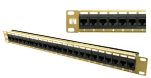 Carson Telecom Cat6 24 Port Gold Color Patch Panel